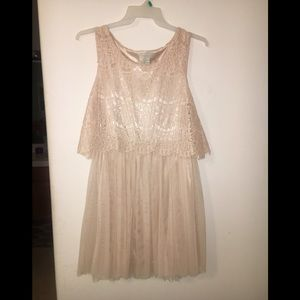 Champagne Pink mid thigh tea party dress